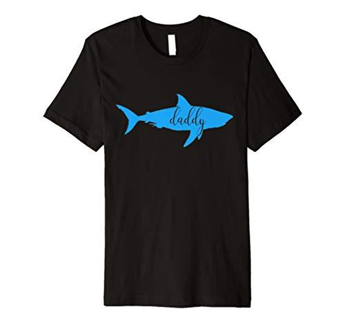 (Men's Daddy Shark T Shirt Short Sleeve Top)