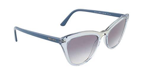 (Prada Men's 0PR 01VS Transparent Azure/Clear Gradient Blue One Size)