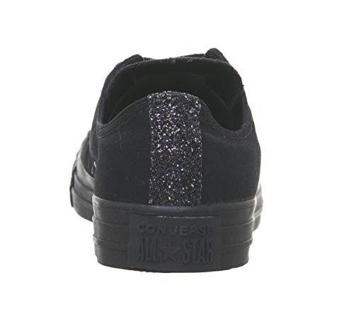 Noir Taylor black black Basses silver Femme 000 Stars Sneakers All Converse Chuck AUqw44