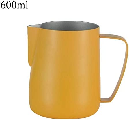Barista Milk Frother Pitcher Stainless Steel Cup Frothing Jug 600ml Colorful