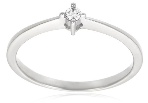 10k White Gold Diamond Promise Ring (0.05 cttw, H-I Color, I3 Clarity), Size 8 by Amazon Collection