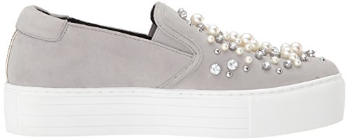 Kenneth Cole New York Womens Ashby Pearl Platform Slip Faux Jewels Sneaker Grey MmG1H0iRXm