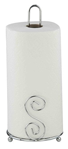 Home Basics Scroll Collection, Chrome Paper Towel Holder ()