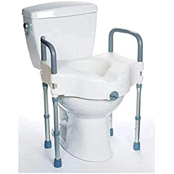 Amazon Com Mobb Elevated Raised Toilet Seat With Arms And