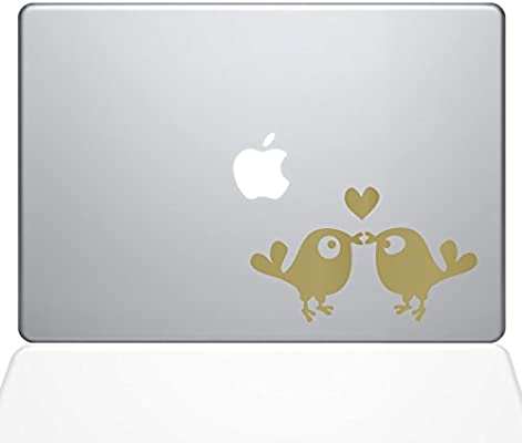 The Decal Guru Kissing Birds Macbook Decal Vinyl Sticker