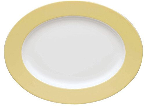 Thomas Germany Sunny Day Pastel Yellow Oval Serving Platter (Rosenthal Sunny Day)