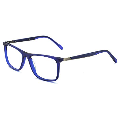OCCI CHIARI Optical Eyewear Non-prescription Fashion Glasses Eyeglasses Frame with Clear Lenses Glasses (Blue)