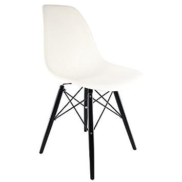 Chaise Privée Eames Inspiriert Stuhl Mit Schwarz Dsw Beine Weiß
