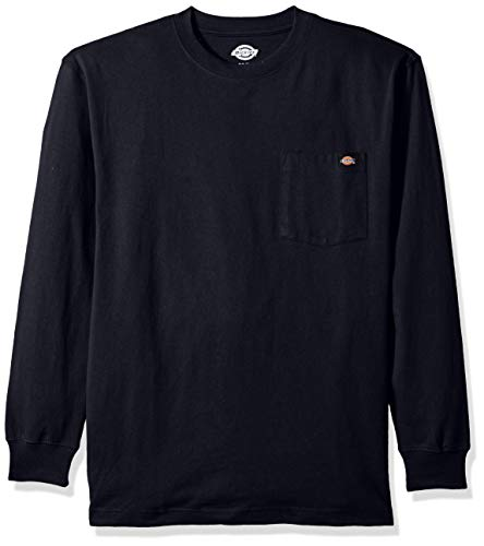 Dickies Men's Long Sleeve Heavyweight Crew Neck, Dark Navy, Medium