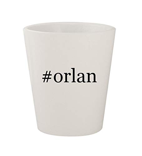 #orlan - Ceramic White Hashtag 1.5oz Shot Glass
