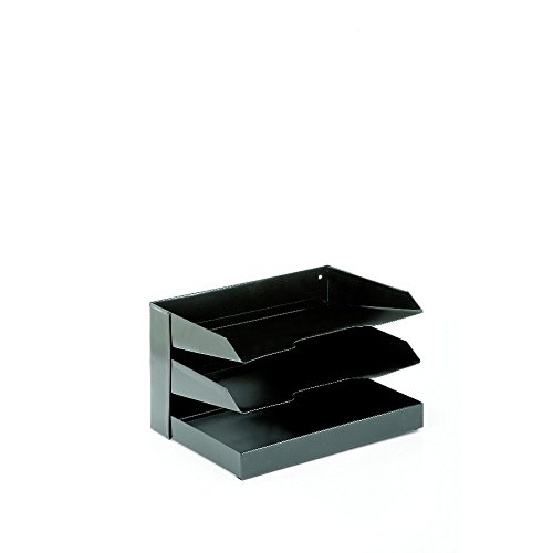Horizontal Desk File, 12'' x 8 1/2'' x 7 1/8'', 3 Shelf, Black by AbilityOne