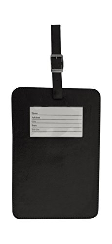 Dacasso Colors Faux Leather Traveler's Envy Luggage Tag - Midnight Black
