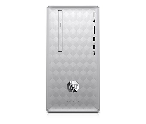 HP Pavilion Desktop Computer, AMD Ryzen 5 2400G, 8GB RAM, 1TB Hard Drive, Windows 10 (590-p0040, Silver) ()