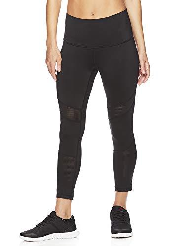 Reebok Women's Capri Leggings w/High-Rise Waist - Performance Compression Tights - Black, Small ()