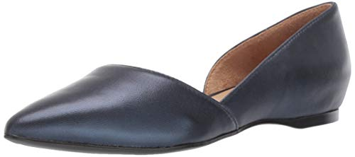 Naturalizer Women's Samantha Pointed Toe Flat, Navy Metallic, 10 M -