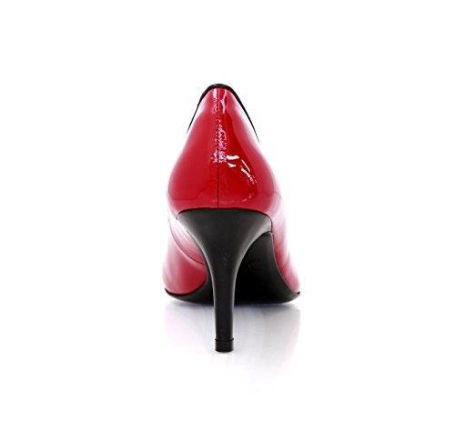 Rockabilly Heels Nappaleder Rot Women's 7cm In MIT Diamond Absatz Lackleder Pumps Pump Red REzSdxnwq