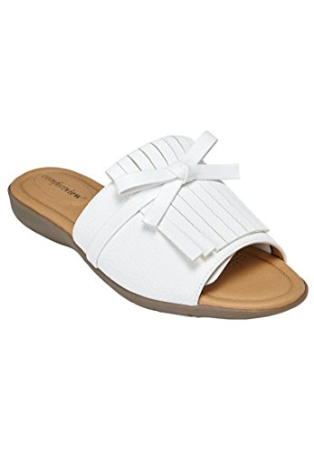 Comfortview Womens Wide Lyric Mules White