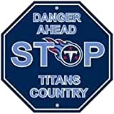 "NFL Tennessee Titans Stop Sign, 12"" x 12"""