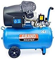 Grandmaster - Compresor de Aire 100 Litros 220V, Dos Cilindros ...
