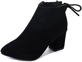 Dony Zipper, Martin botas puntiagudas, cabeza, color puro suede dama, casual Martin botas.
