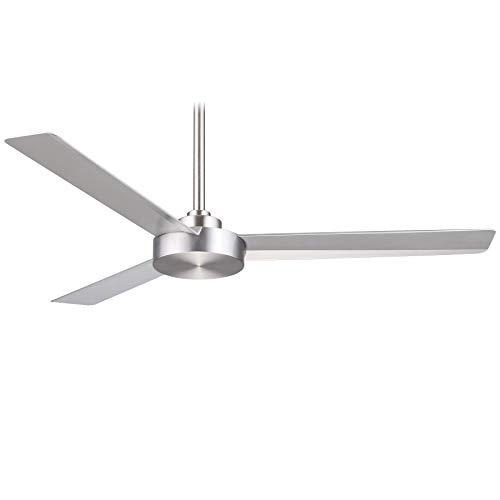 Minka-Aire F524-ABD Protruding Mount, 3 Silver Blades Ceiling fan, Brushed Aluminum