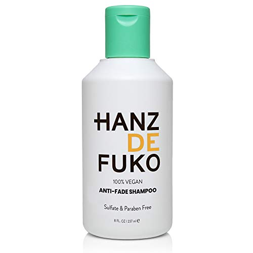 Hanz de Fuko Premium Men's Hair Anti-Fade Shampoo: High Performance Hair Cleanser (8oz)