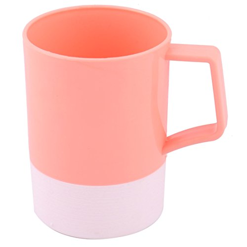 uxcell Home Bathroom Toothbrush Toothpaste Holder Teeth Brushing Water Cup 400ml Coral Pink