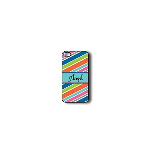Krezy Case Monogram iPhone 4s Case, Colorful stripes Monogram iPhone 4s Case, Monogram iPhone 4s Case, iPhone...