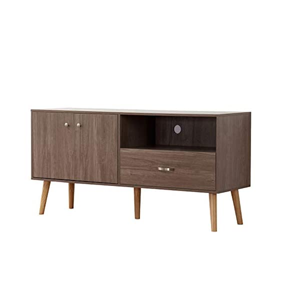 DlandHome Television Stand 58 Inches with 2-Door & 1-Drawer & 1-Shelf, Entertainment Center Console Storage Cabinet for Living Room/Bedroom, HH-GZ007-GO Oak, 1 Pack -  - tv-stands, living-room-furniture, living-room - 31%2BKJA9CzSL. SS570  -