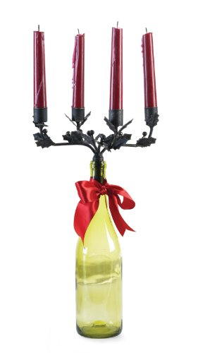 Four-Taper Wine Bottle Candelabra