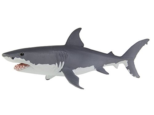Safari Ltd Wild Safari Sea Life – Great White Shark – Realistic Hand Painted Toy Figurine Model – Quality Construction from Safe and BPA Free Materials – For Ages 3 (Great White Shark Toy)