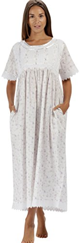 - The 1 for U Nightgown 100% Cotton Sizes XS-3XL Helena (Large, Lilac Rose)