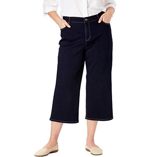 Woman Within Women's Plus Size Perfect Cropped Jean - Indigo, 16 W