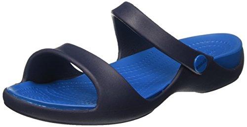 Crocs Kvinnor Cleo V Platt Sandal Marin / Ultramarin