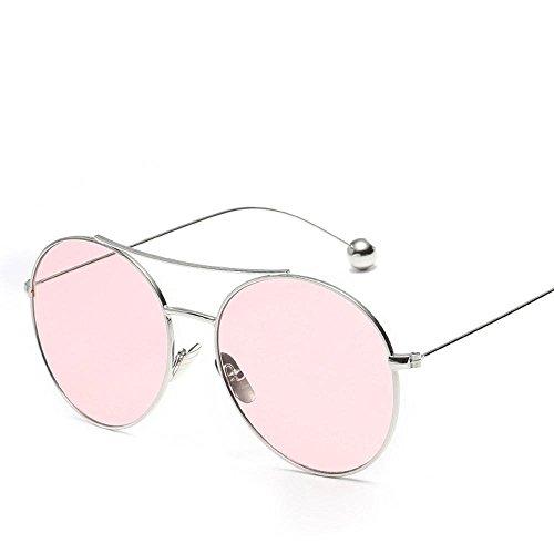 de sol definición gafas con cine hombre plano de Aoligei espejo B alta gafas la sol gafas Moda de pierna de señora sol de bola acero mar 6xUEwqf78