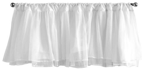 Tadpoles Window Valance - White Tulle