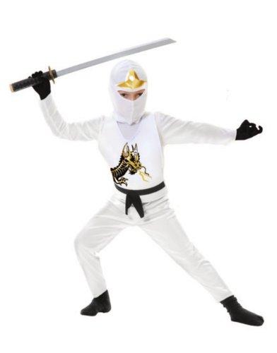 White Ninja Avenger II Toddler Costume -