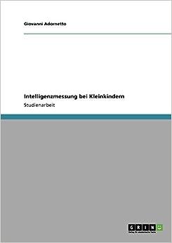 Book Intelligenzmessung bei Kleinkindern