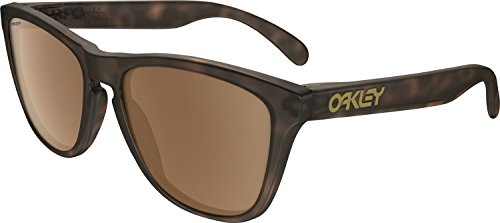 Oakley Men's Frogskins (a) Polarized Iridium Rectangular Sunglasses, Matte Brown Tortoise, 54 - Sunglasses Frogskins
