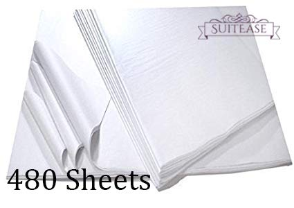 - White Tissue Wrap Paper, Premium Quality Solid White, Large Sheets Ream 20 x 30