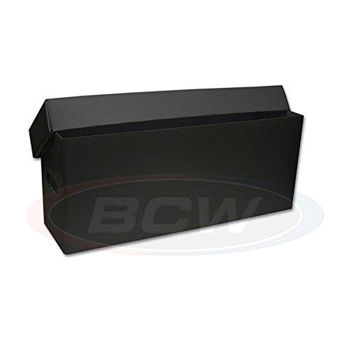 5 BCW Black Plastic Long Comic Storage Boxes