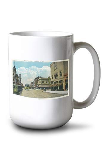 (Lantern Press Alameda, California - View of Park Street, Street Car (15oz White Ceramic Mug))