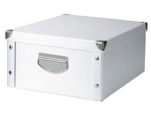 Zeller 17764 Aufbewahrungsbox, Pappe / 40 x 33 x 17, weiß