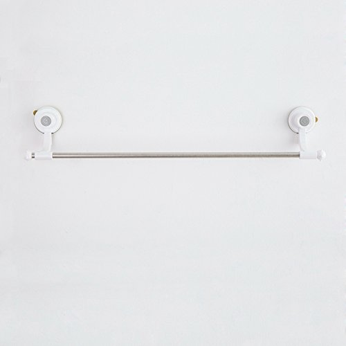 MBYW Modern Minimalist high Load-Bearing Towel Rack Bathroom Towel Rail Powerful Suction Cup Seamless Stainless Steel Towel Towel Rack Bathroom Single Pole Bathroom Towel Rack ()