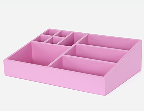 Cosmetic Storage Box Solid Wood Desktop Multifunction Skin Care Finishing Box (Color : D) by Cosmetic Cases
