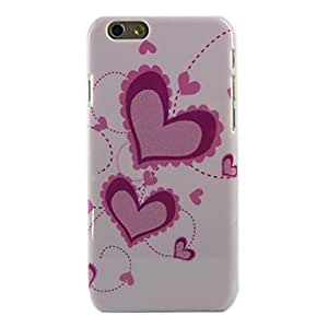 YULIN Pink Love Star Style Hard Cover for iPhone 6