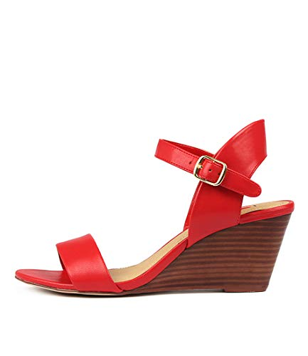 I LOVE BILLY Melli Womens Shoes Medium Heels Summer Wedges Red Smooth