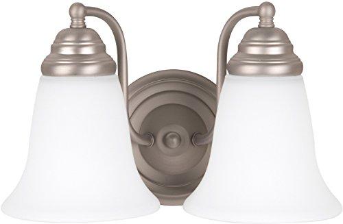 Craftmade 15311BN2-WG Cathryn 2 Light Vanity Incandescent, Brushed Satin Nickel