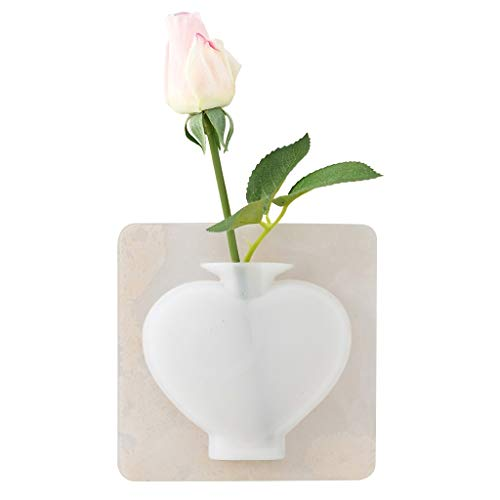 Nesee Silicone Sticky Vase Reusable Wall-Mounted Flower Holder Drilling-Free Hanging Decorative Rubber - Bathroom Under Wall Tile Mirrors