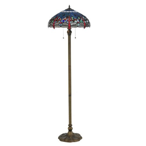 Tiffany Hanginghead Dragonfly Floor Lamp